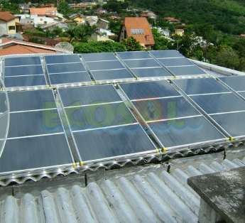 Foto: Aquecedor solar residencial
