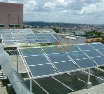 Foto: Sistema de aquecimento do Hospital Novo Atibaia