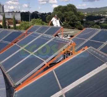 Foto: Sistema de aquecimento do Hotel Vila Verde em Atibaia